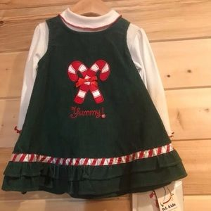 3/15 ☀️ 12 months Christmas dress with leggings